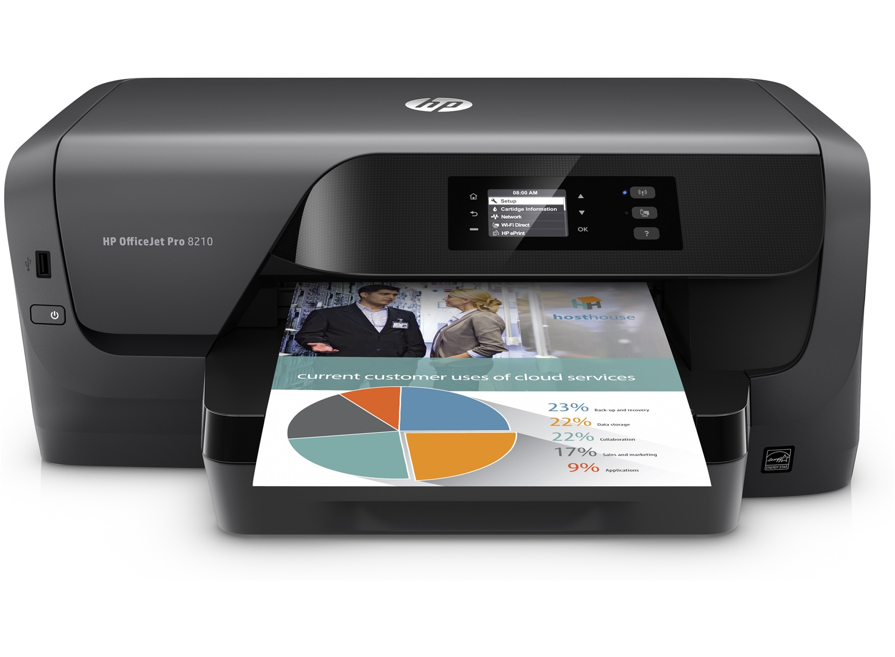 hp officejet pro 8210 colour 2400 x 1200dpi a4 wi fi inkjet printer. Black Bedroom Furniture Sets. Home Design Ideas
